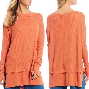 NWT Free People North Shore Coral Light Thermal S